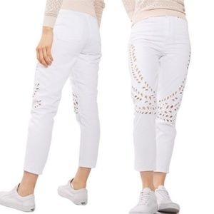 TopShop Moto Mom High Waisted Jeans White